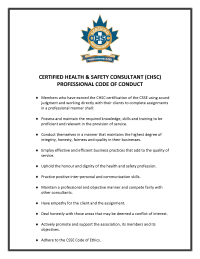 CHSC Code of Conduct
